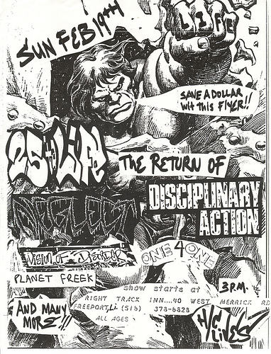 Vision Of Disorder-25 Ta Life-Disciplinary Action-Neglect-One 4 One-Planet Freek @ Right Track Inn Freeport NY 2-19-95