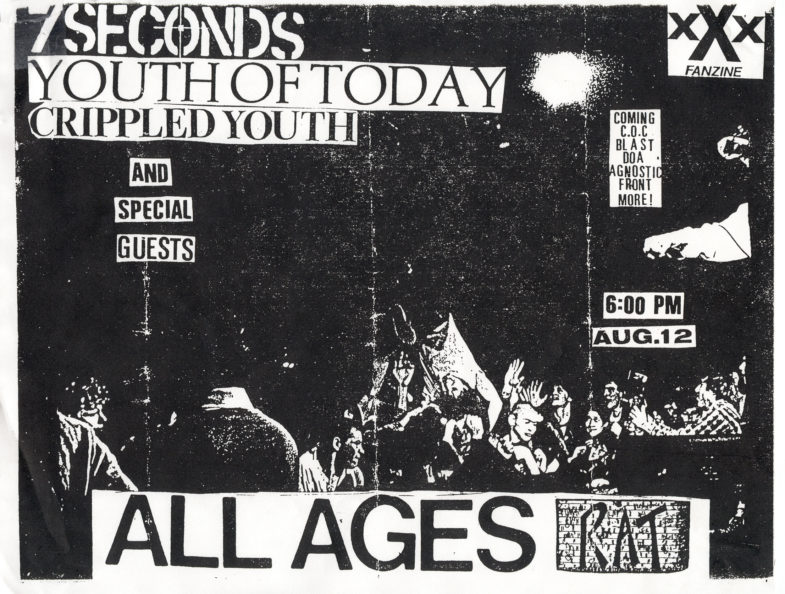 7 Seconds-Youth Of Today-Crippled Youth @ The Rat Boston MA 8-12-86