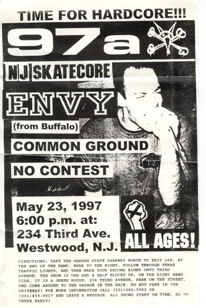 97a-No Contest-Envy-Common Ground @ 234 House Westwood NJ 5-23-97
