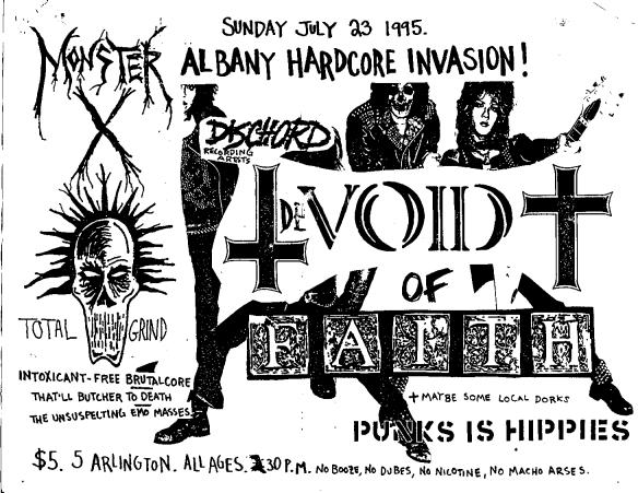 Devoid Of Faith-Monster X @ 5 Arlington Ottawa Ontario Canada 7-23-95