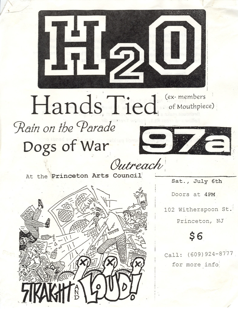 h2o-Hands Tied-97a-Rain On The Parade-Dogs Of War-Outreach @ Princeton Arts Council Princeton NJ 7-6-96