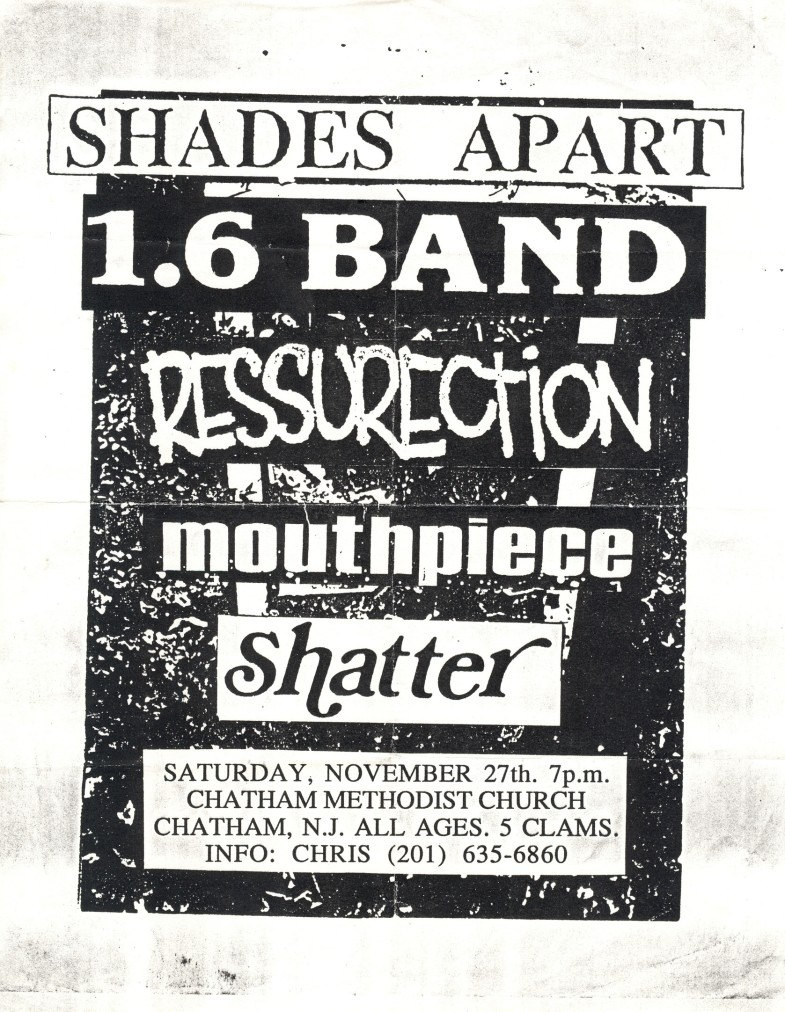 Shades Apart-1.6 Band-Mouthpiece-Ressurection-Shatter @ Chatam Church Chatam NJ 11-27-93