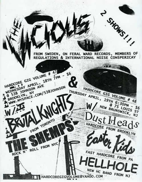 The Vicious-The Shemps-Brutal Knights @ 538 Johnson Ave. Brooklyn NY 4-18-07