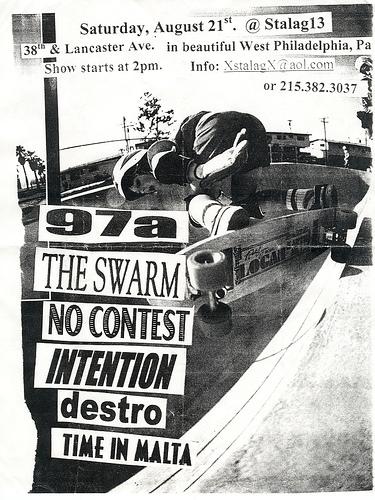 97a-No Contest-The Swarm-Destro-Intention-Time In Malta @ Stalag 13 Philadelphia PA 8-21-99