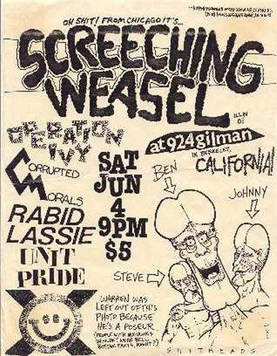 Operation Ivy-Unit Pride-Screeching Weasel @ 924 Gilman St. Berkeley CA 6-4-88