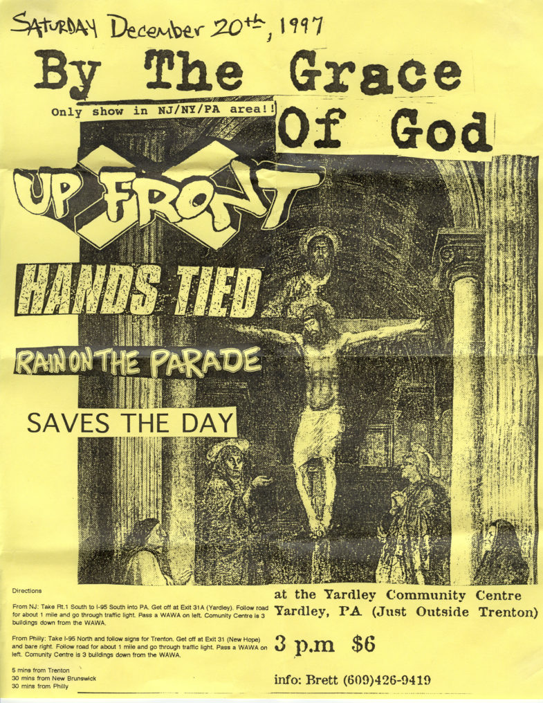 By The Grace Of God-Hands Tied-Rain On The Parade-Saves The Day-Up Front-Rad @ Yardley Community Center Yardley PA 12-20-97