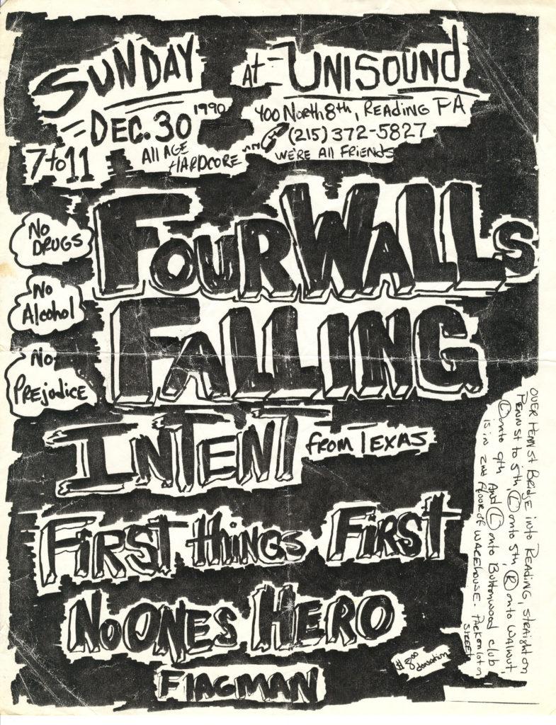 Four Walls Falling-Flagman-Etc @ Unisound Reading PA 12-30-90