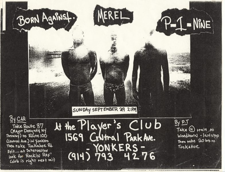 Born Against-Merel-Etc @ The Player's Club Yonkers NY 9-29-91