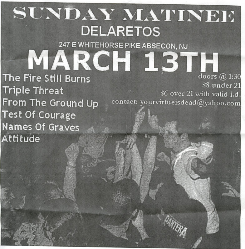 The Fire Still Burns-Triple Threat-Etc @ Delaretos Absecon NJ 3-13-05