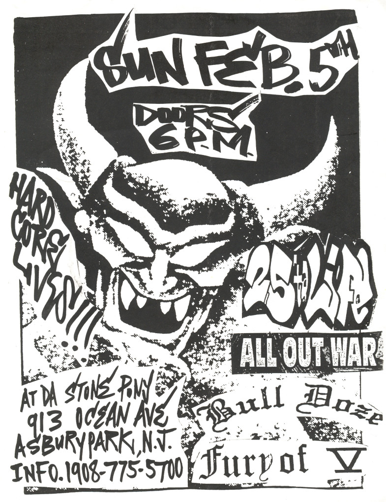 Bulldoze-Fury Of V-25 Ta Life-All Out War @ Stone Pony Asbury Park NJ 2-5-95
