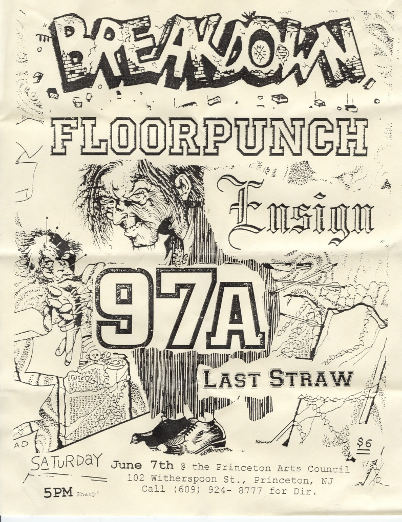 Breakdown-Floorpunch-97a-Ensign-Last Straw @ Princeton Arts Council Princeton NJ 6-7-97