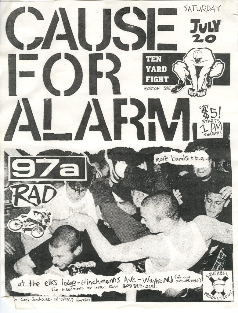 Cause For Alarm-97a-Rad-Ten Yard Fight @ Elks Lodge Wayne NJ 7-20-96