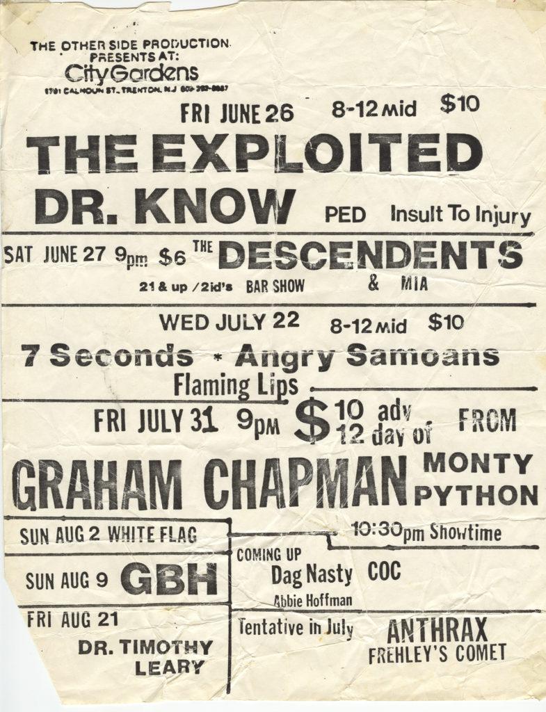 Summer 1987 @ City Gardens