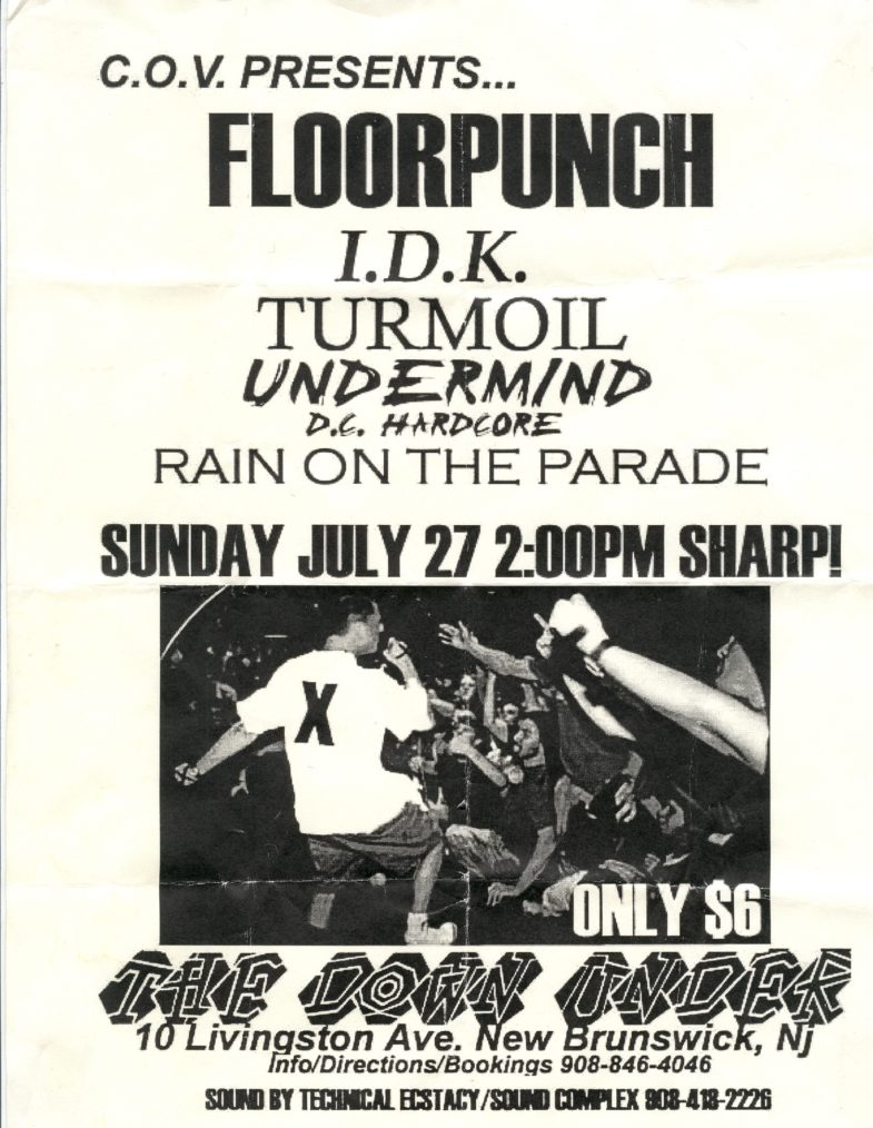 Floorpunch-Rain On The Parade-Etc @ The Down Under New Brunswick NJ 7-27-97