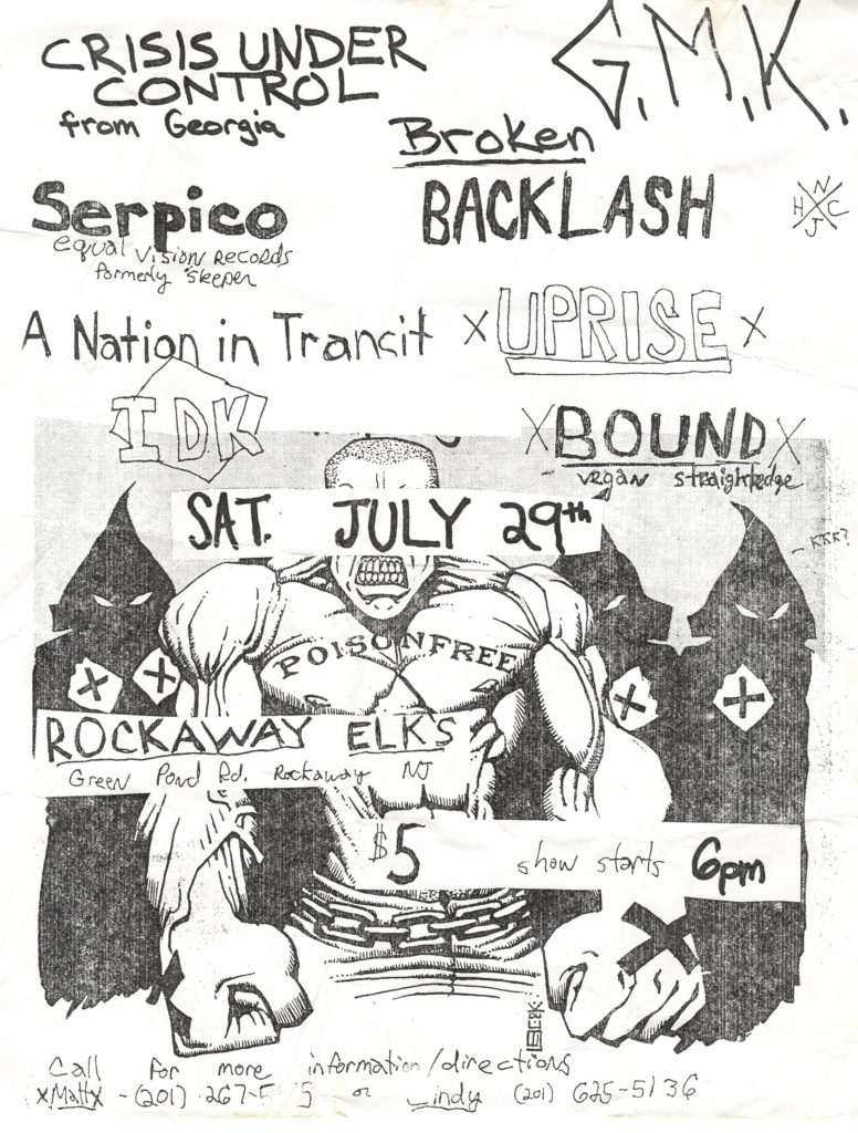 Bound-IDK-Uprise-Etc @ Rockaway Elks Rockaway NJ 7-29-95
