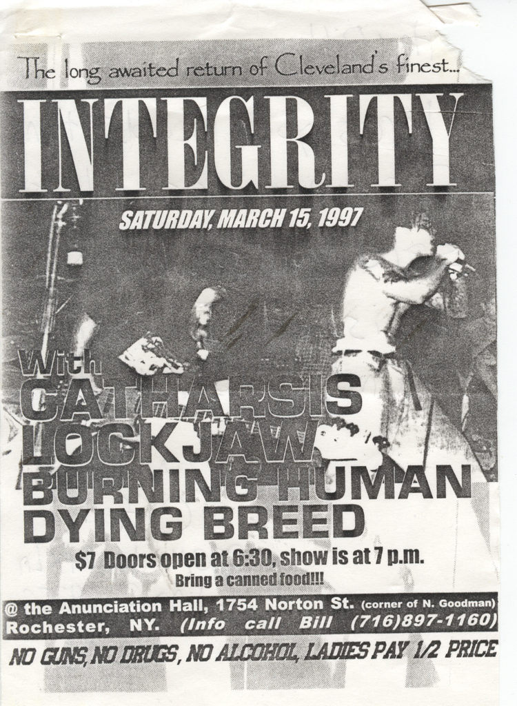 Integrity-Catharsis-Etc @ Annunciation Hall Rochester NY 3-15-97