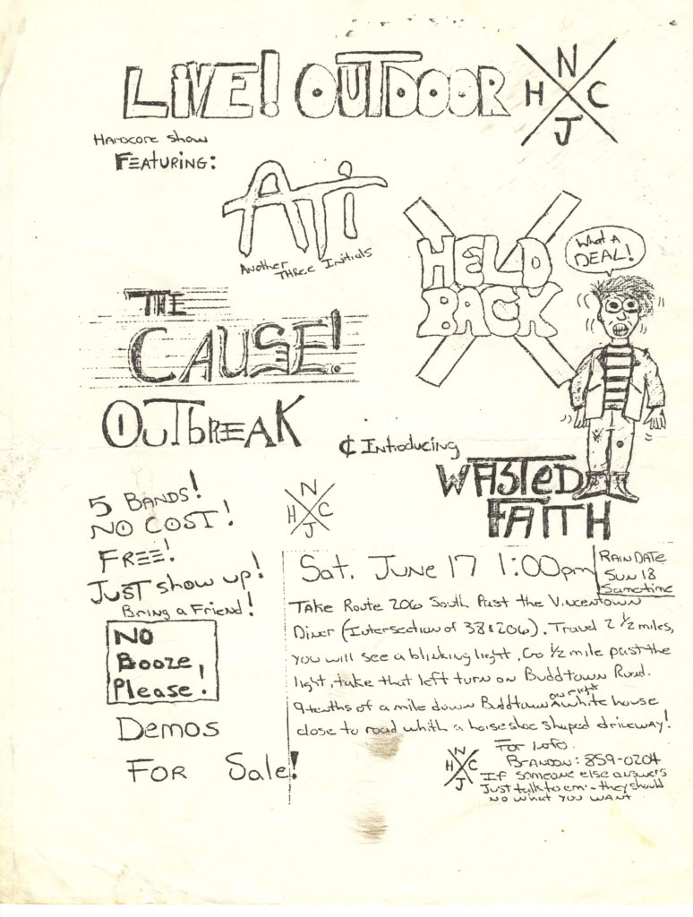 The Cause-ATI-Held Back-Outbreak-Wasted Faith @ Vincentown NJ 6-17-89