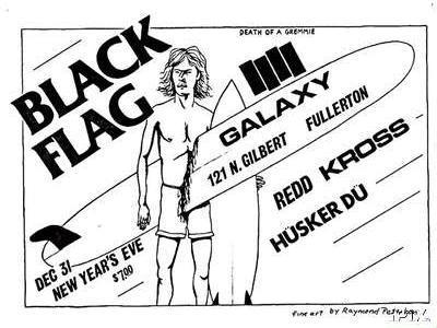 Black Flag-Redd Kross-Husker Du @ Galaxy Fullerton CA 12-31-82