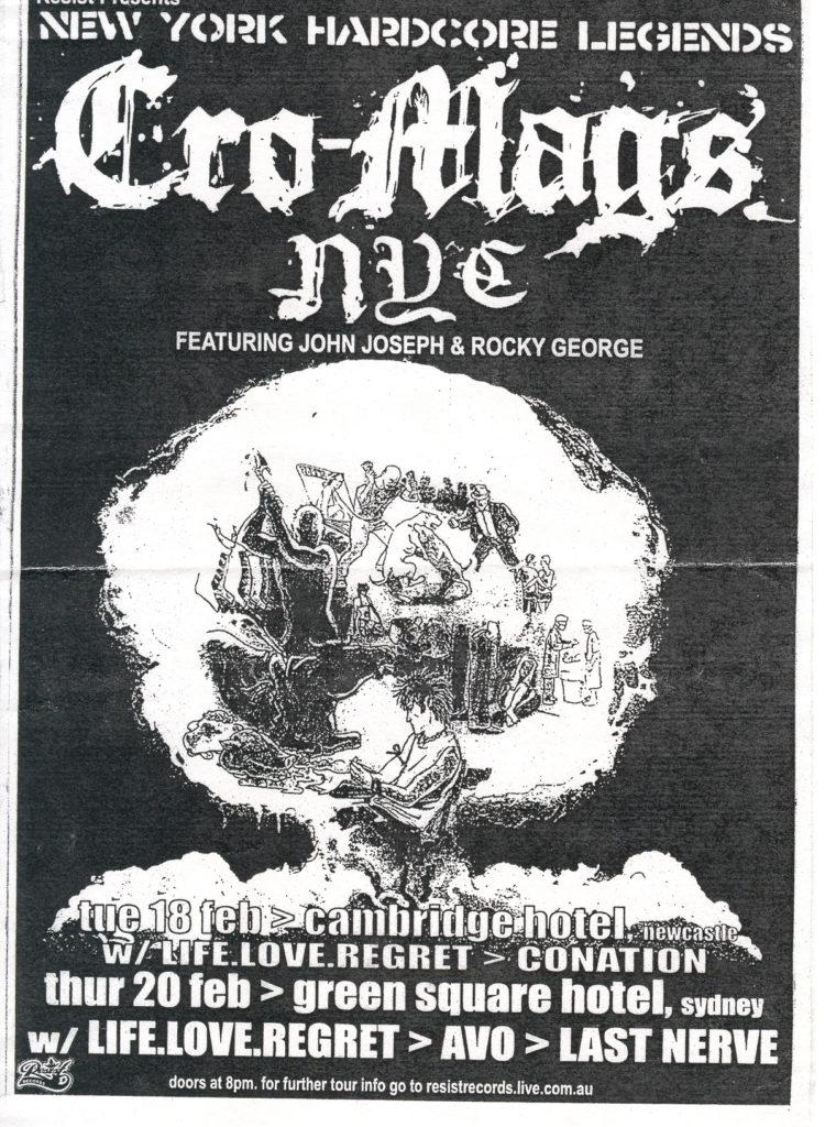 Cro-Mags Australian Tour 2003