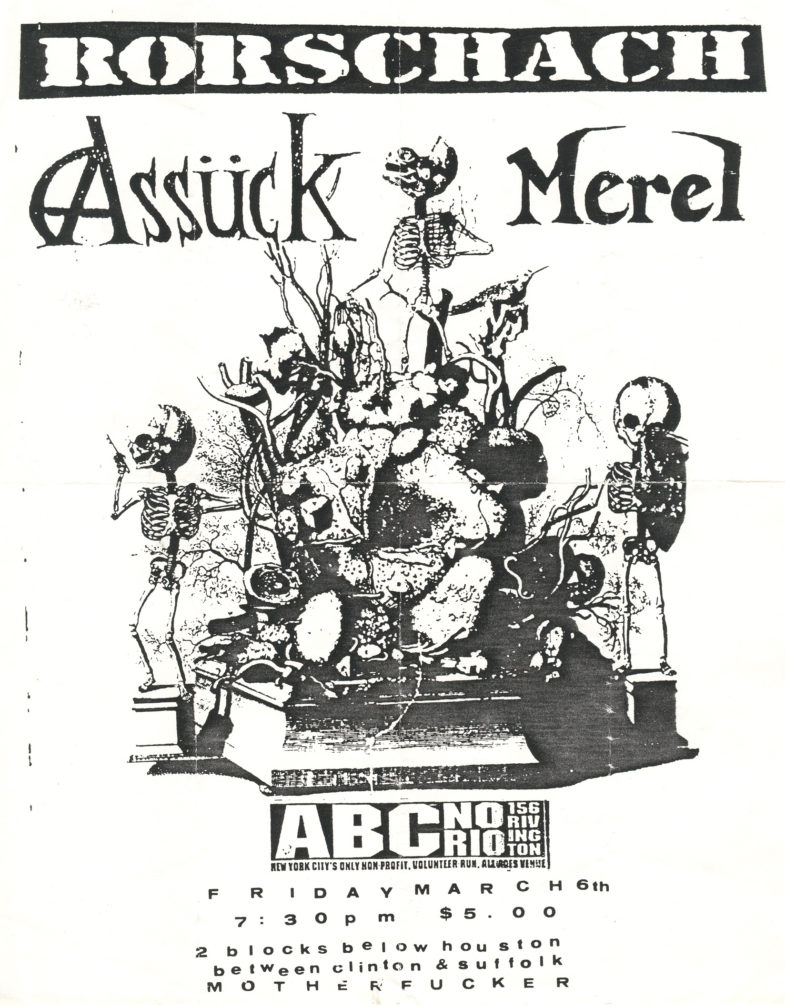 Rorschach-Assuck-Merel @ ABC No Rio New York City NY 3-6-92