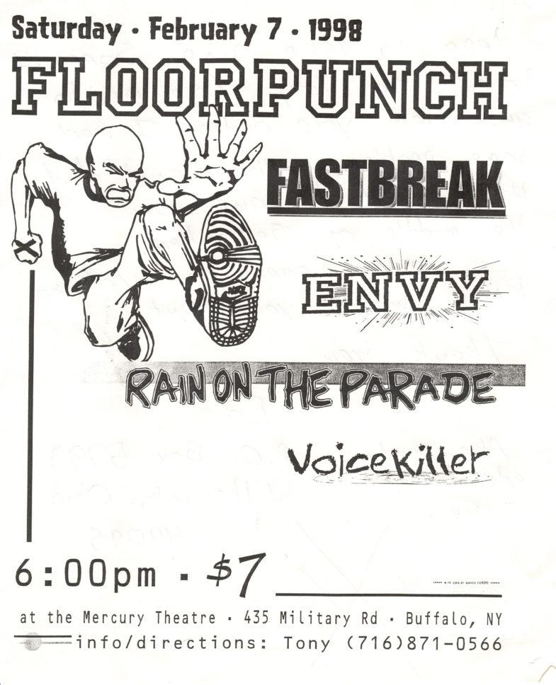 Floorpunch-Fastbreak-Rain On The Parade-Envy-Voicekiller @ The Mercury Theatre Buffalo NY 2-7-98