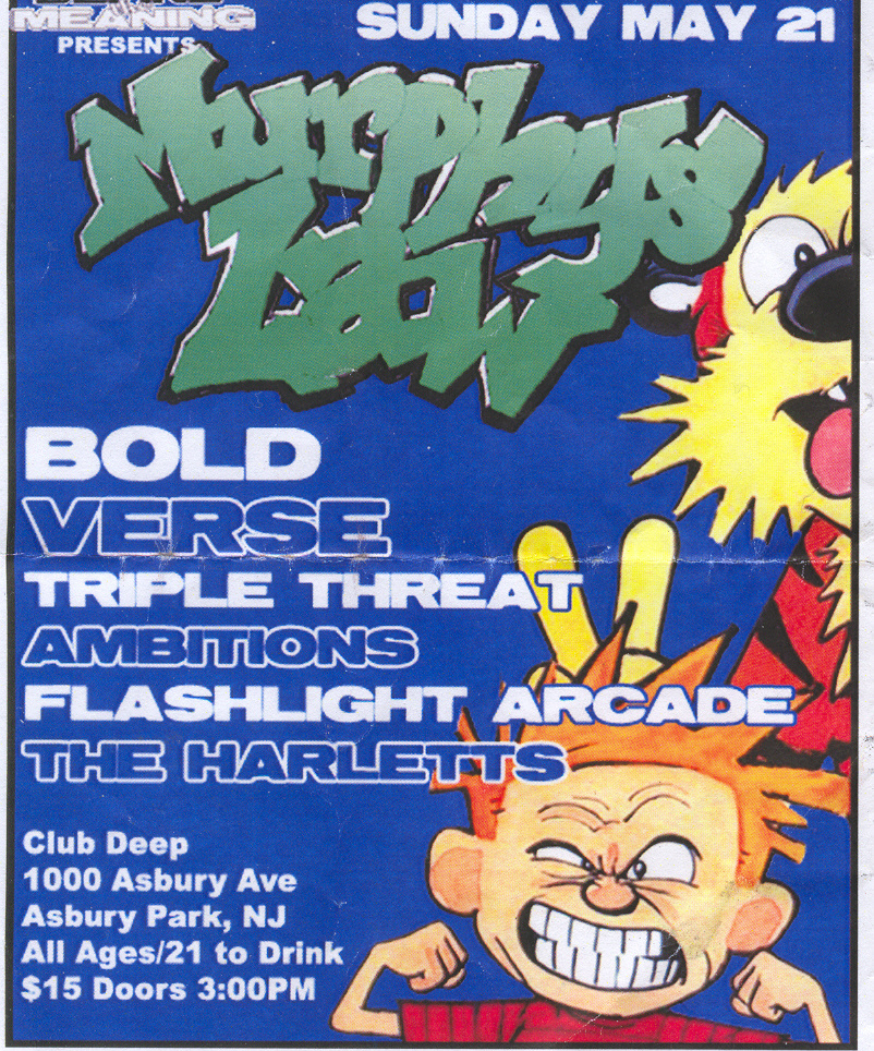 Murphy's Law-Bold-Verse-Triple Threat-Ambitions-Flashlight Arcade-The Harletts @ Club Deep Asbury Park NJ 5-21-06