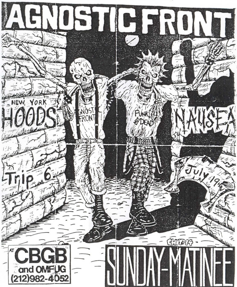 Agnostic Front-New York Hoods-Trip 6-Nausea @ CBGB New York City NY 7-19-87