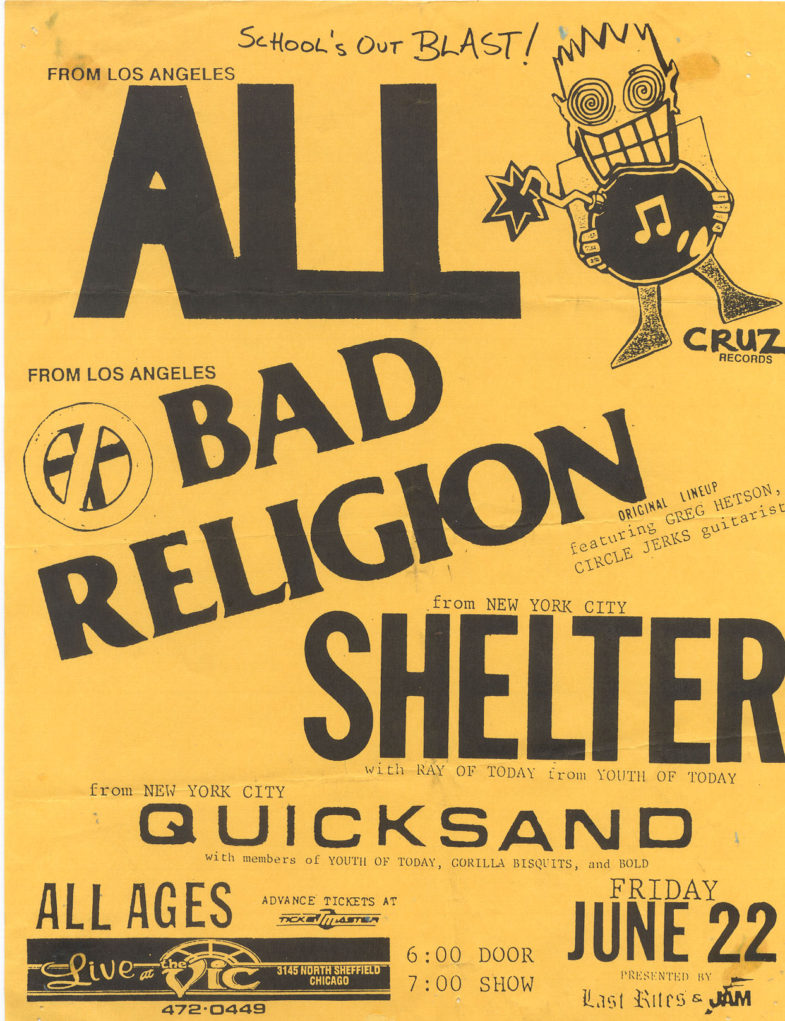 All-Bad Religion-Shelter-Quicksand @ The Vic Chicago IL 6-22-90