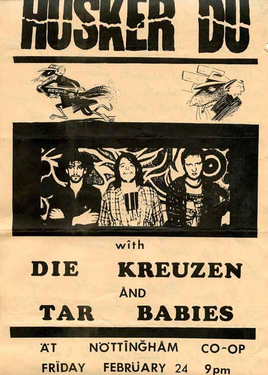 Husker Du-Die Kreuzen-Tar Babies @ Nottingham Co-Op Madison WI 2-24-84