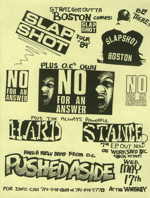 Slapshot-No For An Answer-Hard Stance-Pushed Aside @ The Whiskey West Hollywood CA 5-17-89