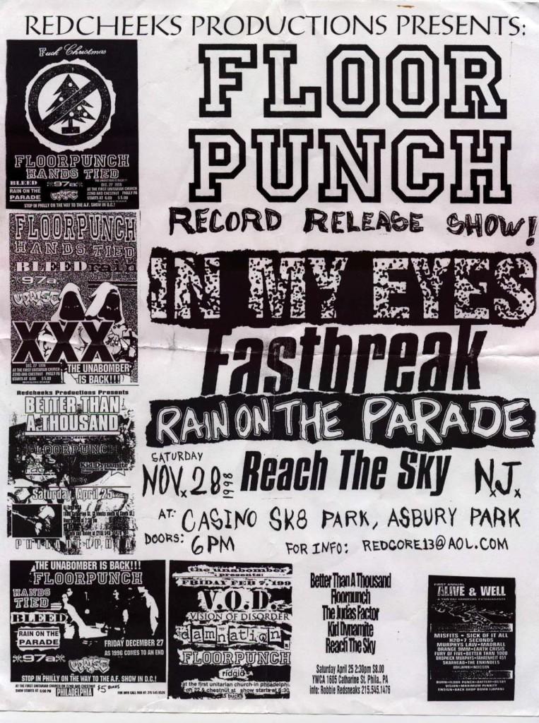 Floorpunch-In My Eyes-Fastbreak-Reach The Sky-Fast Times-Full Speed Ahead @ Casino Skate Park Asbury Park NJ 11-28-98