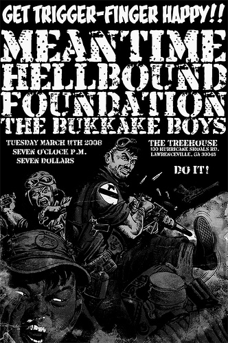 Meantime-Hellbound-Foundation-The Bukkake Boys @ The Treehouse Lawrenceville GA 3-11-08
