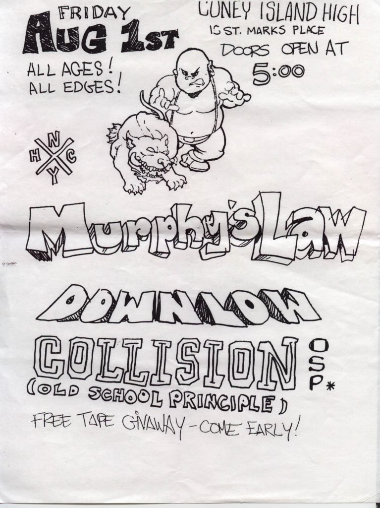 Murphy's Law-Down Low-Old School Principle-Collision @ Coney Island High New York City NY 8-1-97