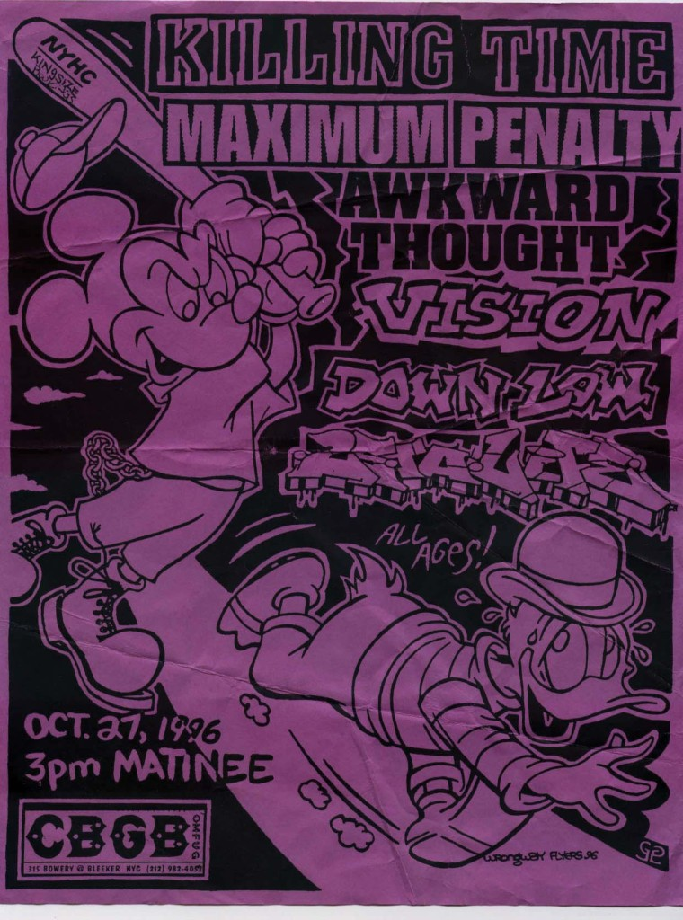 Killing Time-Maximum Penalty-Awkward Thought-Vision-Down Low-25 Ta Life @ CBGB New York City NY 10-27-96