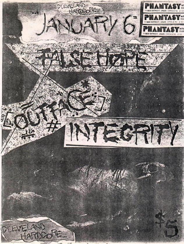 Outface-False Hope-Integrity @ Phantasy Lakewood OH 1-6-90