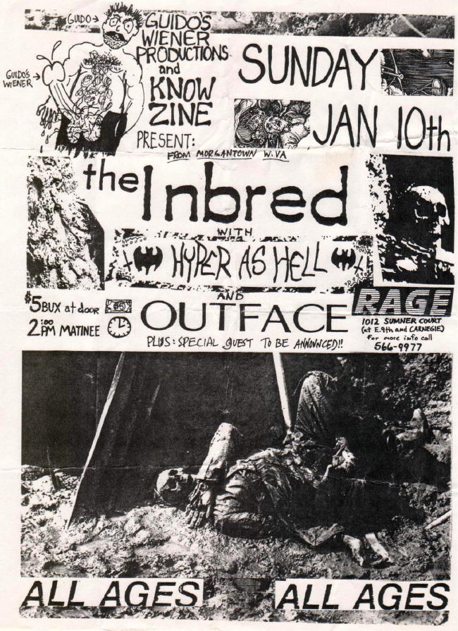 The Inbred-Hyper As Hell-Outface @ Rage Cleveland OH 1-10-88