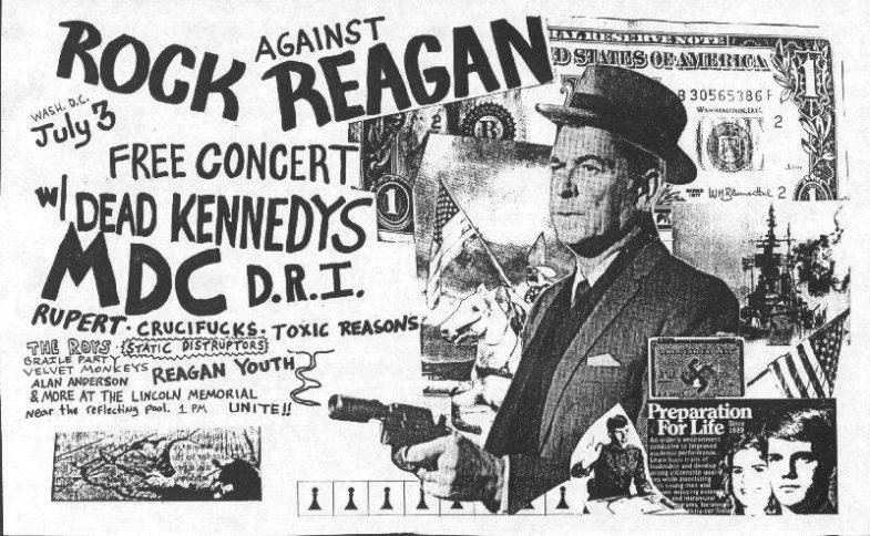 Dead Kennedys-Millions Of Dead Cops-DRI-Rupert-The Crucifucks-Toxic Reasons-Reagan Youth @ Lincoln Memorial WDC 7-3-83