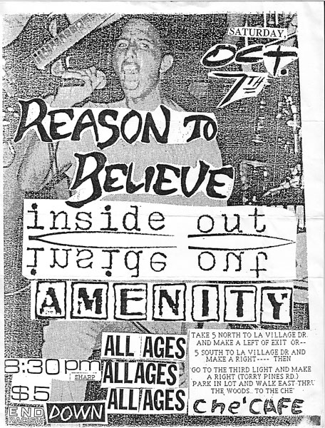 Reason To Believe-Amenity-Inside Out @ Che Cafe San Diego CA 10-7-89