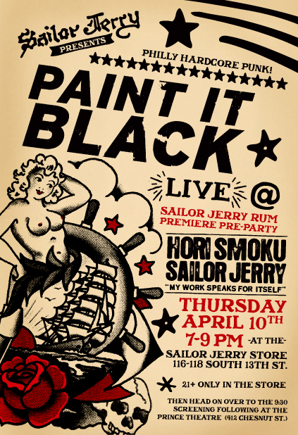 Paint It Black @ Sailor Jerry Store Philadelphia PA 4-10-08
