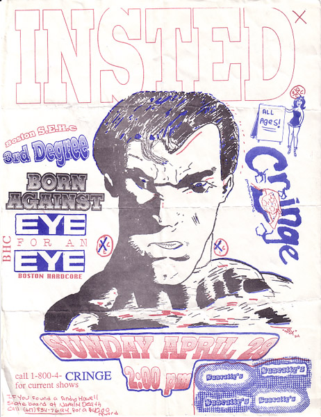 Insted-Born Against-Third Degree-Eye For An Eye @ Bunratty's Boston MA 4-28-91