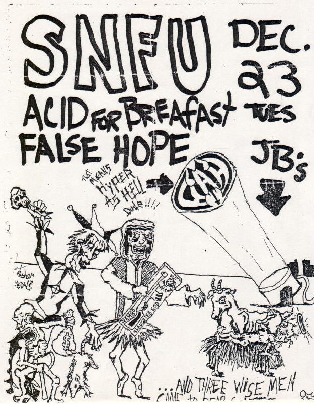 SNFU-Acid For Breakfast-False Hope @ JB's Kent OH 12-23-86
