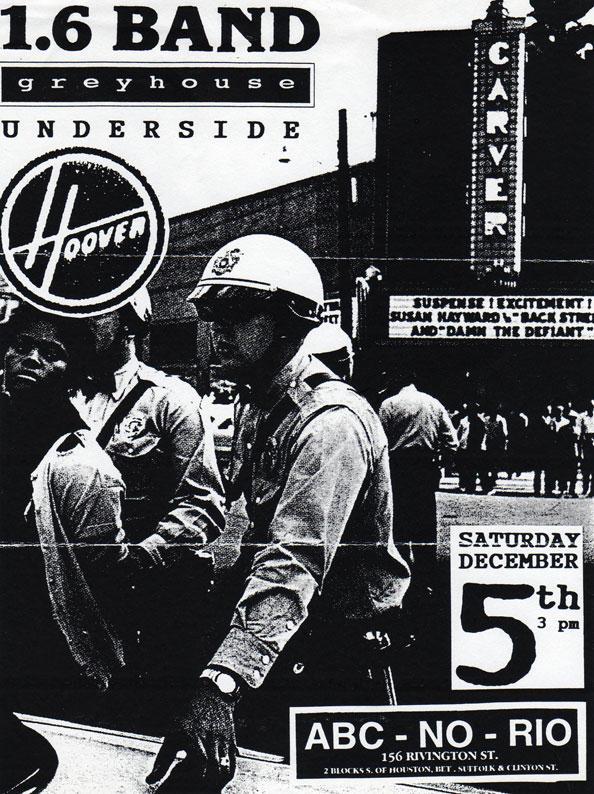 1.6 Band-Hoover-Greyhouse-Underside @ ABC No Rio New York City NY 12-5-92