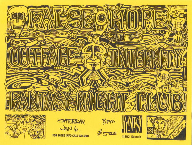 False Hope-Outface-Integrity @ Fantasy Night Club Lakewood OH 1-6-90