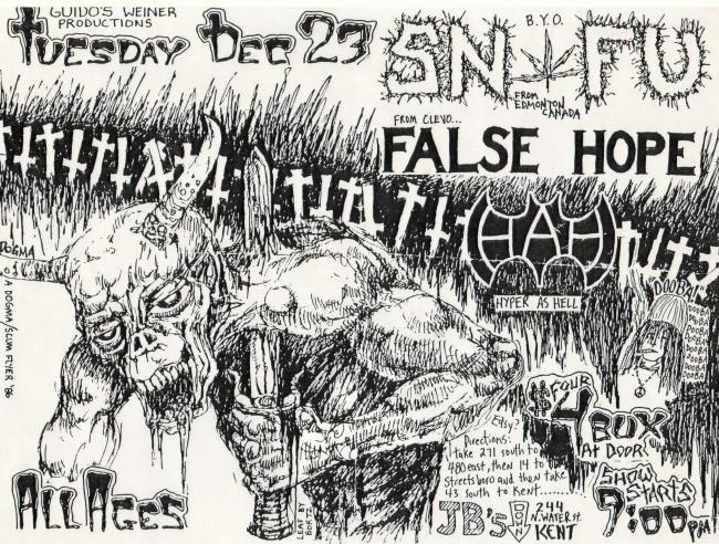 SNFU-False Hope-Hyper As Hell @ JB's Kent OH 12-23-86
