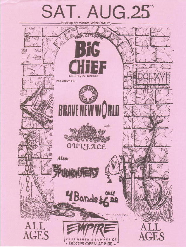 Big Chief-Brave New World-Outface-The Spudmonsters @ Empire Cleveland OH 8-25-90