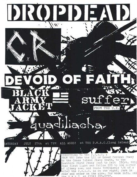 DropDead-CR-Devoid Of Faith-Black Army Jacket-Suffer-Quadiliacha @ PWAC Long Island NY 7-27-96