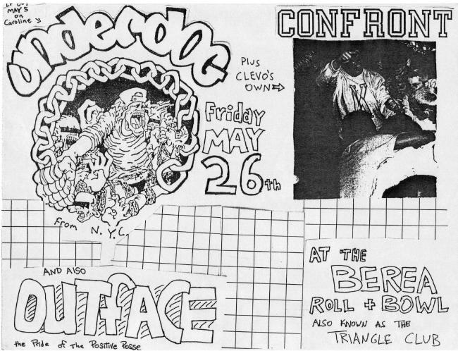 Underdog-Confront-Outface @ The Triangle Club Cleveland OH 5-26-89