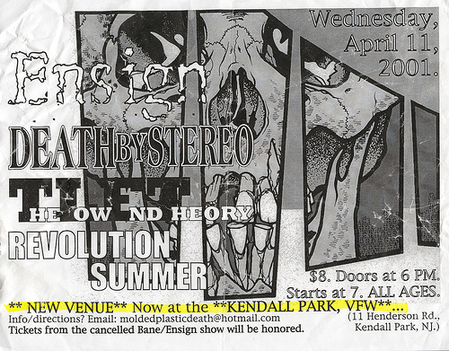 Ensign-Death By Stereo-Revolution Summer-The Low End Theory @ Kendall Park VFW Kendall Park NJ 4-11-01