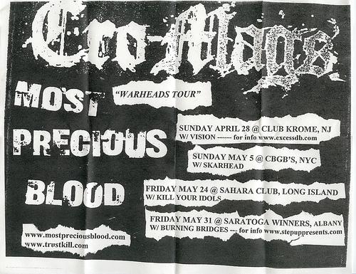 "Cro-Mags ""War-Heads"" Tour 2002"