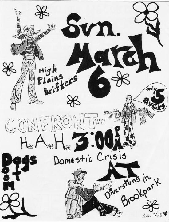Confront-Hyper As Hell-Domestic Crisis @ Diversions Brookpark OH 3-6-88